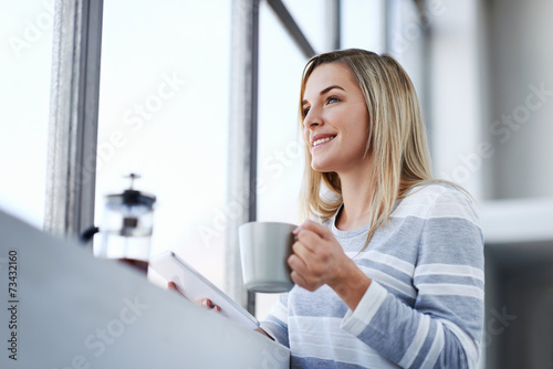 canvas print picture working office woman