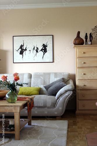 canvas print picture Dekoration, Einrichtung, Teppich, Bild, Blume, Sofa