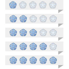 Snowflake shape ranking tags vector template.