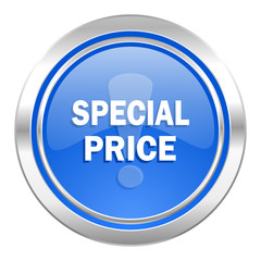 special price icon, blue button