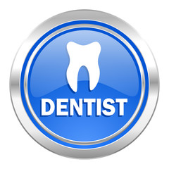 dentist icon, blue button