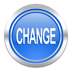 change icon, blue button
