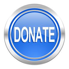 donate icon, blue button
