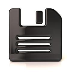 Black floppy disk icon
