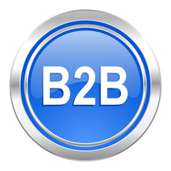 b2b icon, blue button