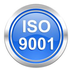 iso 9001 icon, blue button