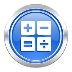 calculator icon, blue button, calc sign