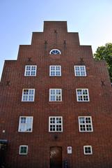 Antikes Fabrikgebäude Fassade