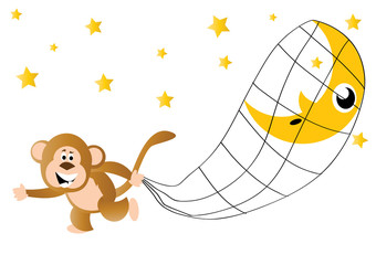 małpa kradnąca księżyc