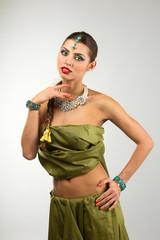 Indian girl dancing