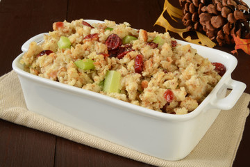 Holiday stuffing with cranberries