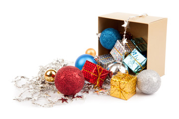 Christmas tree bauble ,ornament in a box