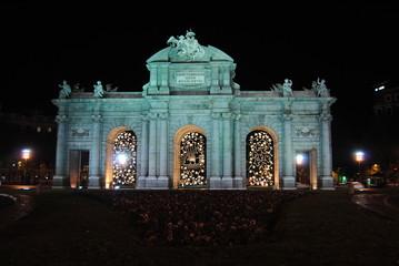 Puerta de Alcala en Navidad