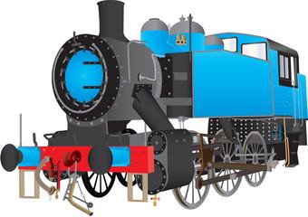 A Blue Steam Shunting Locomotive