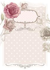 Vector vintage flower frame