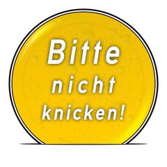 bg24 ButtonGrafik UmschlagButton ub14 - Nicht knicken gelb g2566