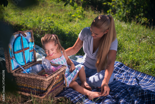 canvas print picture Picnic is always pleasure