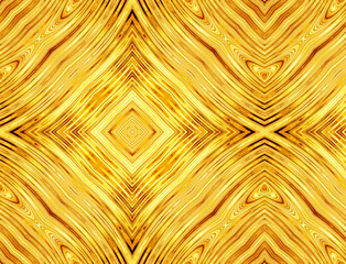 abstract pattern of golden symmetrical square