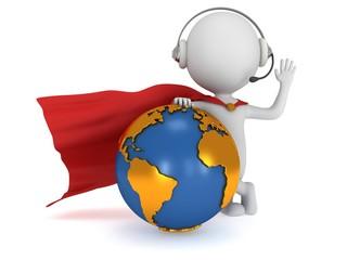3d superhero global manager