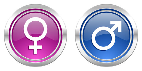 male female gender vector icons
