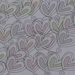 Sketched Heart Pattern