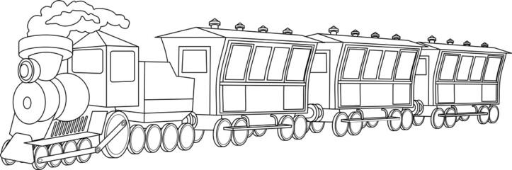 Locomotive. Vintage style