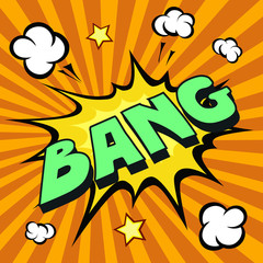 bang cartoon comic explosion