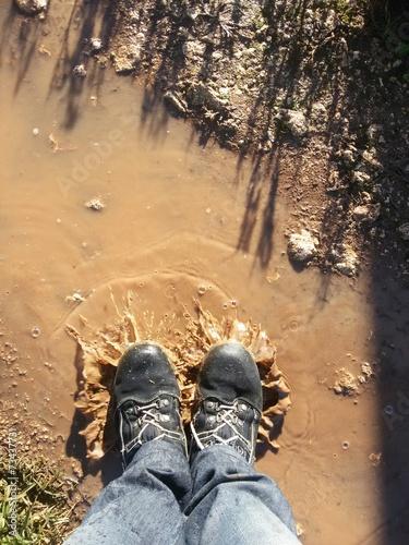 canvas print picture Mie scarpe fango