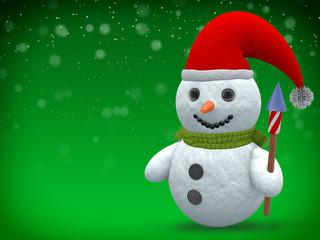 3D - Snowman - Shot 23
