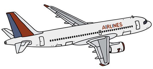 Hand drawing of an airliner - not a real type