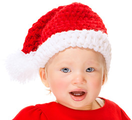Cute Santa baby portrait