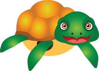 Turtle Cartoon Vector Illustration