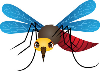 Mosquito Cartoon Vector Illustration