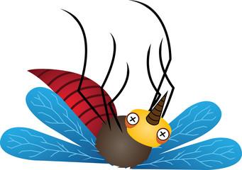 Mosquito Cartoon Vector Illustration