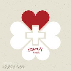 Medicine abstract logo vector design template. Clover leaf shape