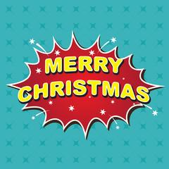 Merry christmas comic bubble speech
