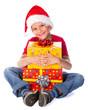 Boy with Christmas gift box