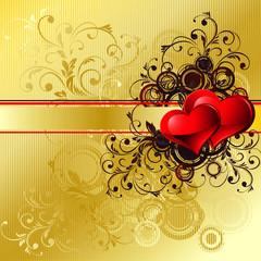 Gold valentines background