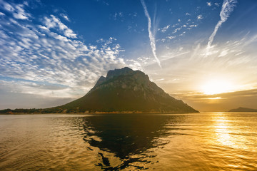 sunrise on Tavolara island, Sardinia, Italy