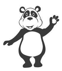Black and white panda Cartoon