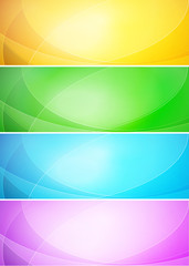 Abstract shiny vector template banner