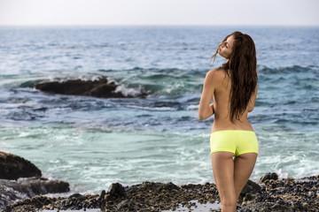 Bikini Model On A Beach