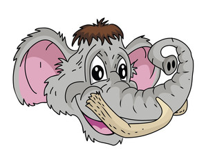 Mammoth head Cartoon