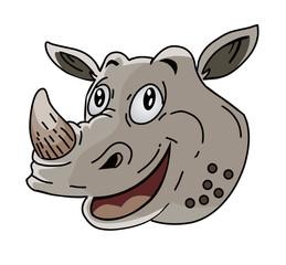 Rhinoceros head Cartoon