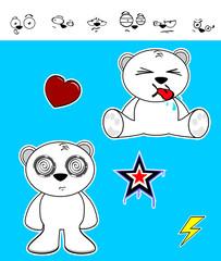 cute polar bear baby cartoon set
