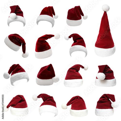 Leinwanddruck Bild Weihnachtsmützen Set 9