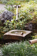Water feature in Japanese garden