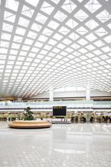 modern airport hall interior