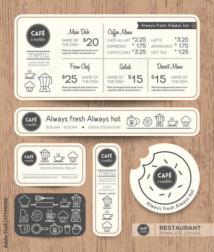 Restaurant Cafe Set Menu Graphic Design Template - 73446186