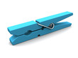 canvas print picture - blue clothespin